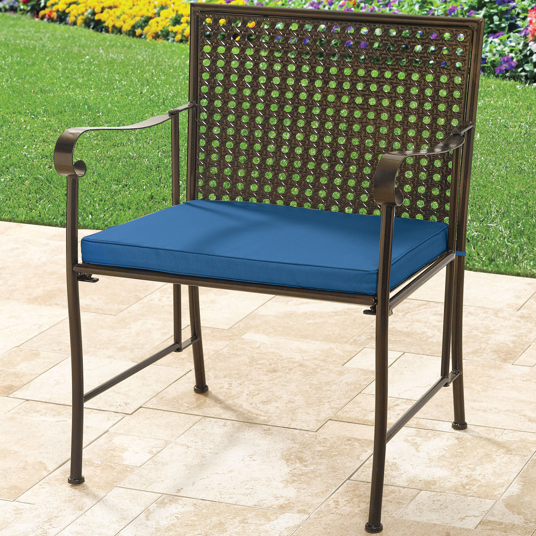 Oversized Metal Folding Chair with Cushion,