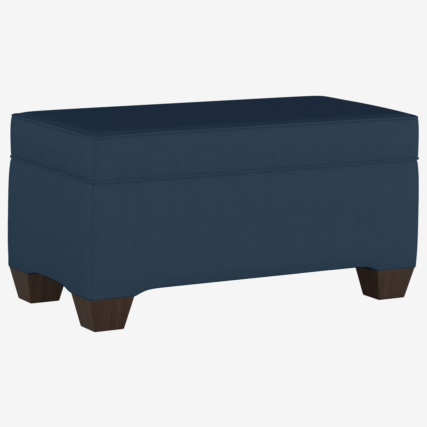 Upholstered Storage Bench in Linen,