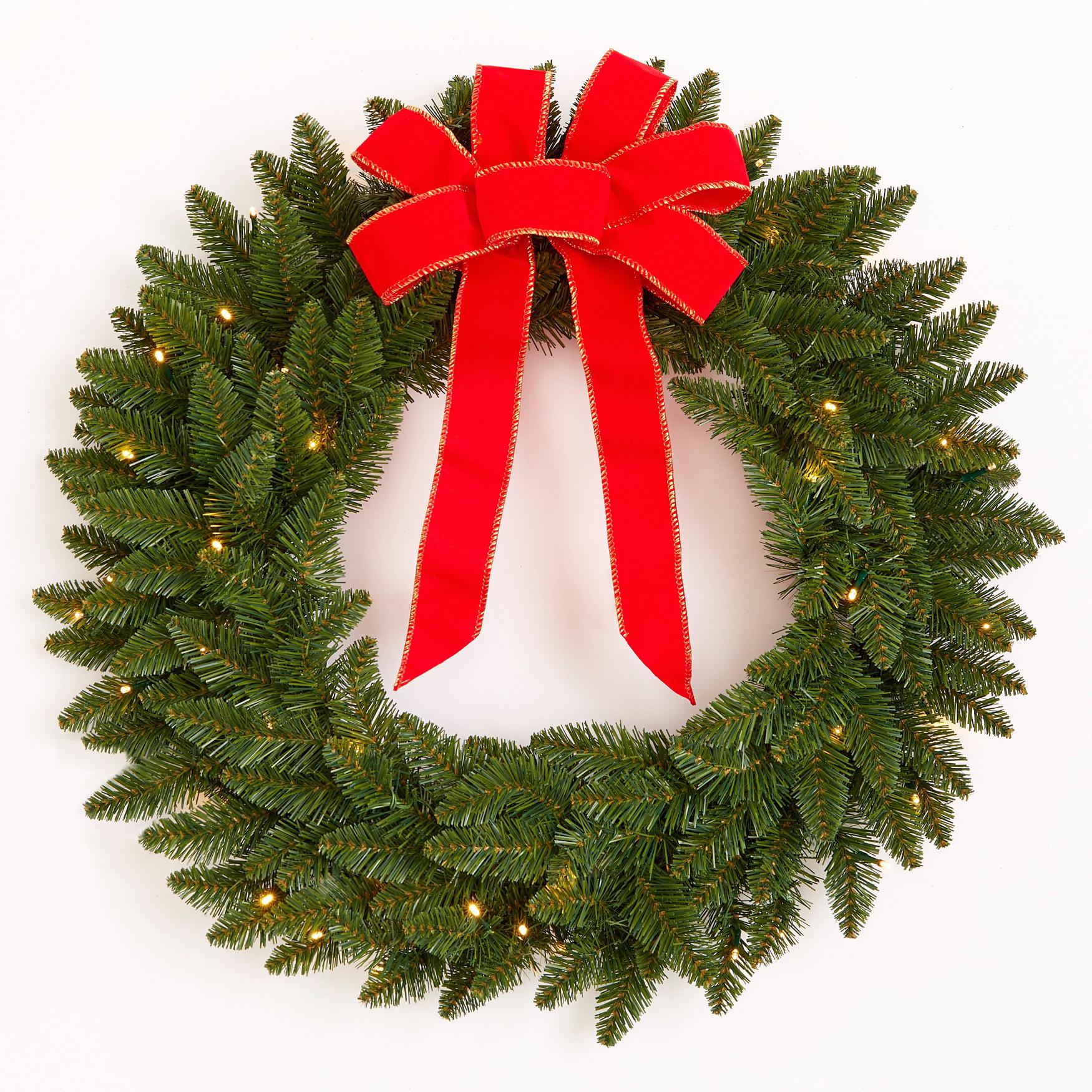 BrylaneHome Christmas Banister Garland Ties Set of 3 Green