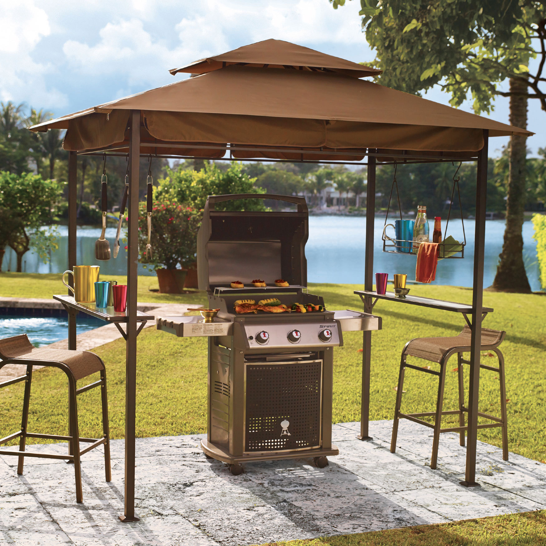 Grillzebo Replacement Canopy, TAUPE