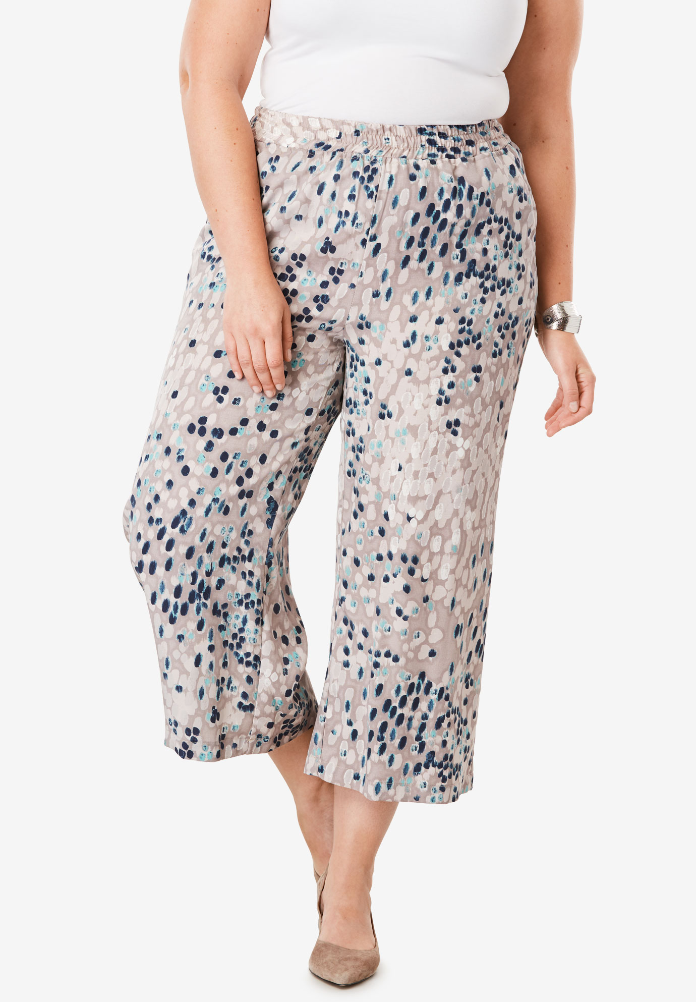 Tencel® Wide Leg Pants,