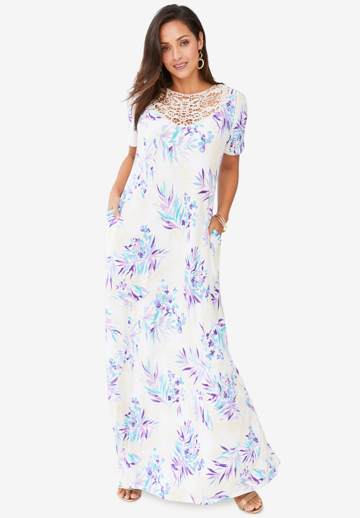 Applique Maxi Dress,