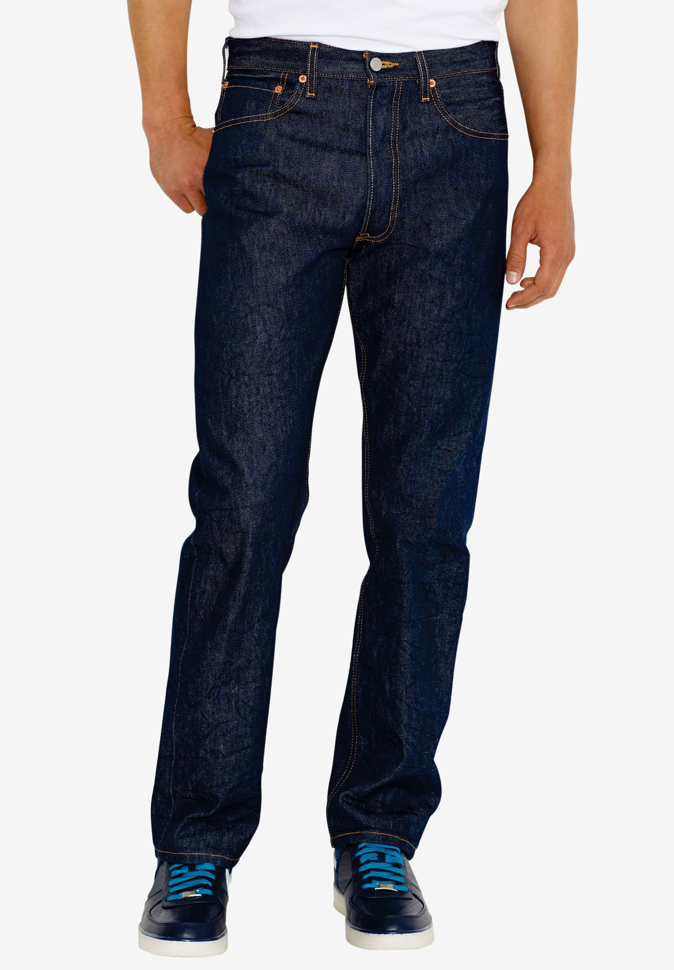 Levi's® 501® Shrink-To-Fit™ Straight Leg Jeans,