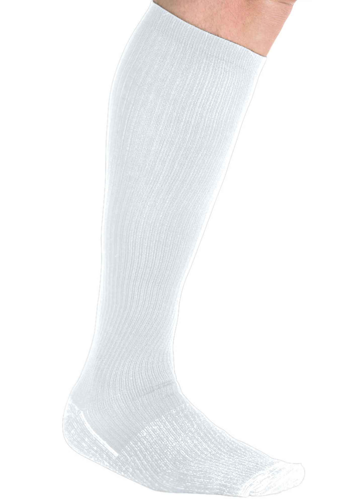 Over-the-Calf Compression Silver Socks,
