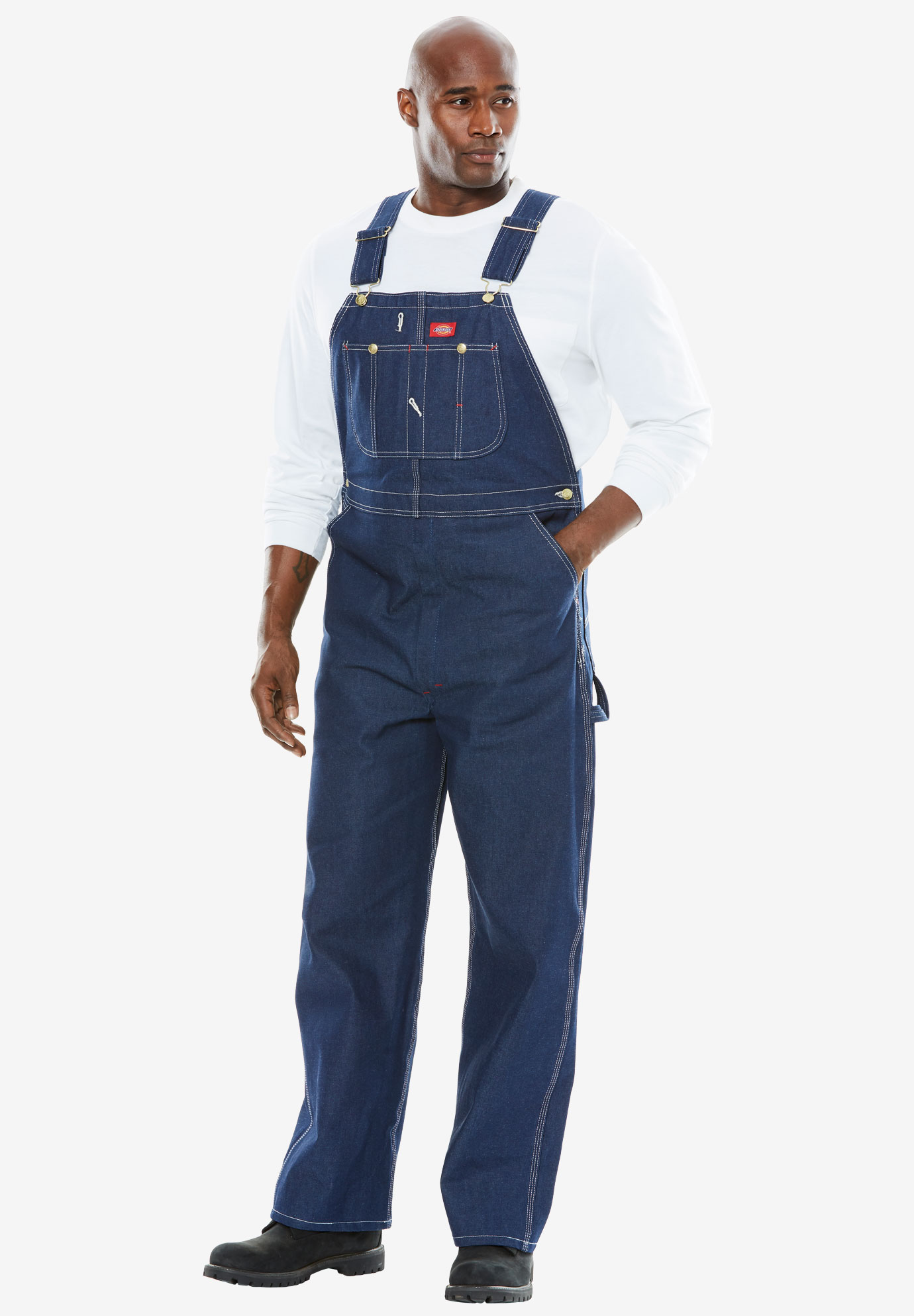 Dickies® Rigid Denim Bib Overalls,