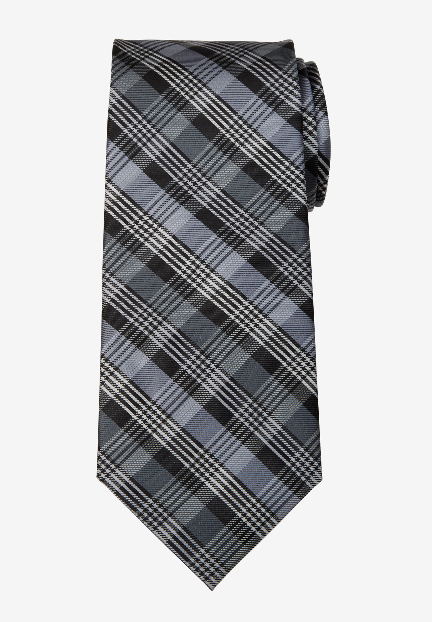 KS Signature Extra Long Classic Plaid Tie,