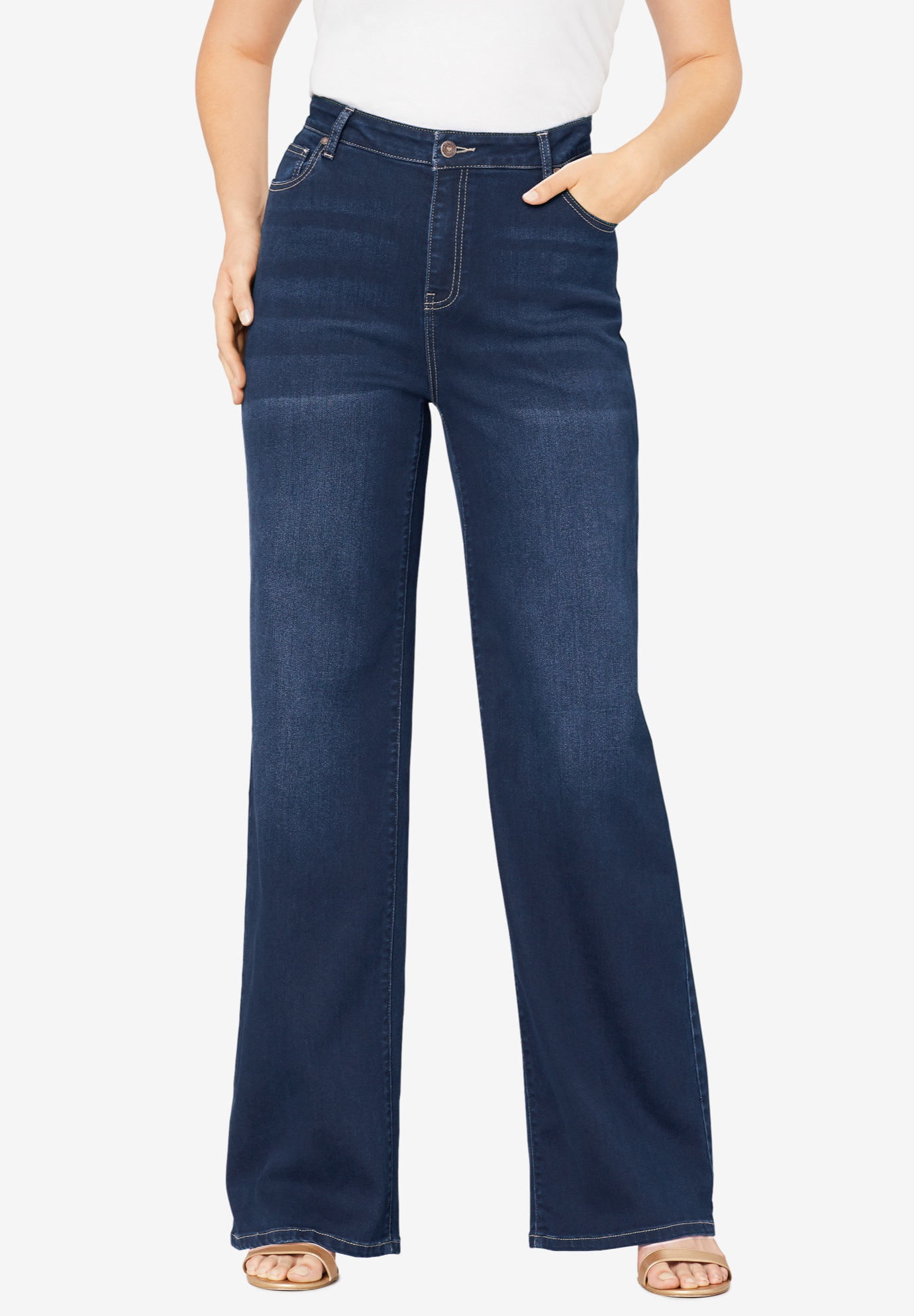 Wide-Leg Jean with Invisible Stretch® by Denim 24/7®,