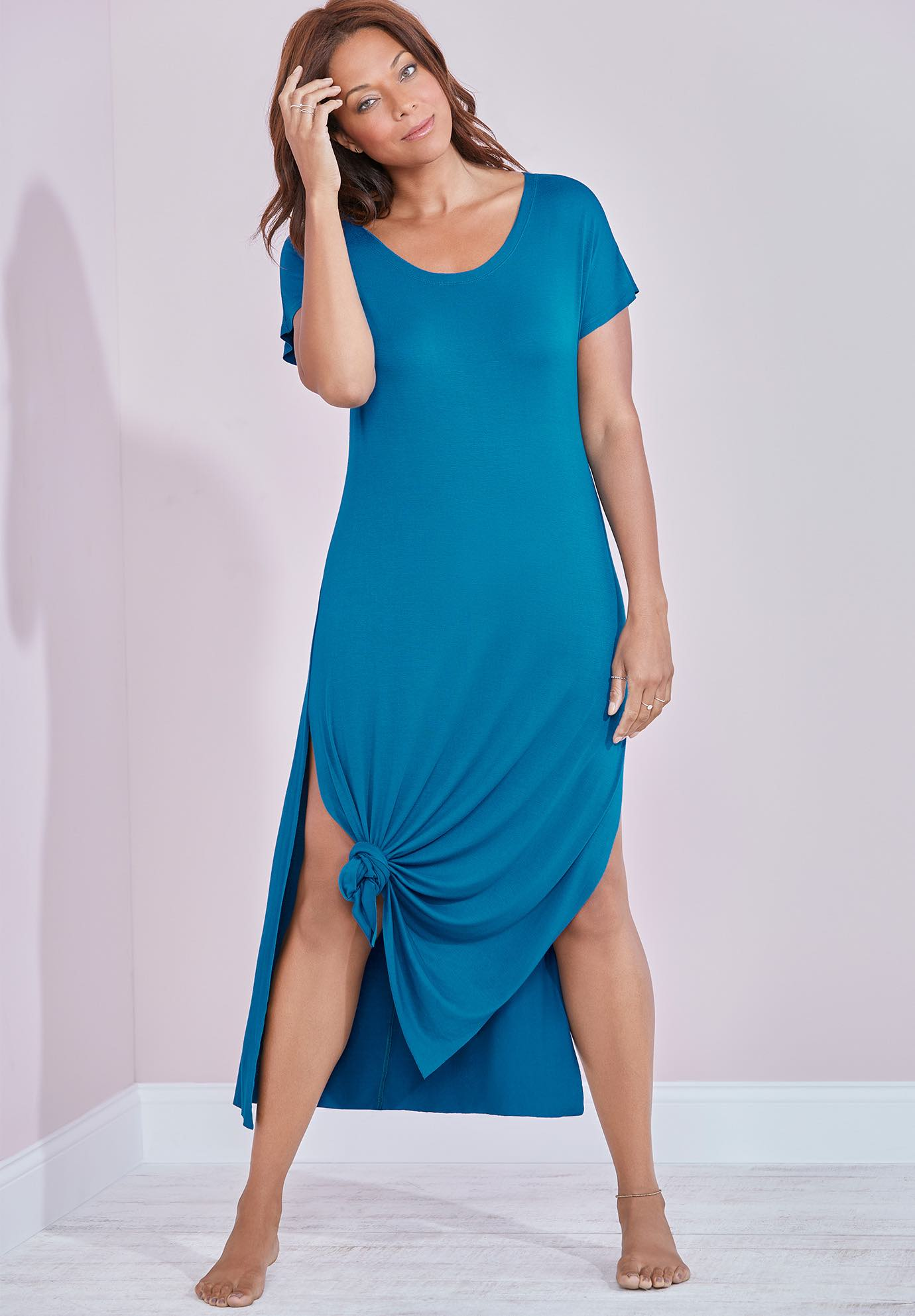 Naya Knotted Maxi Dress,