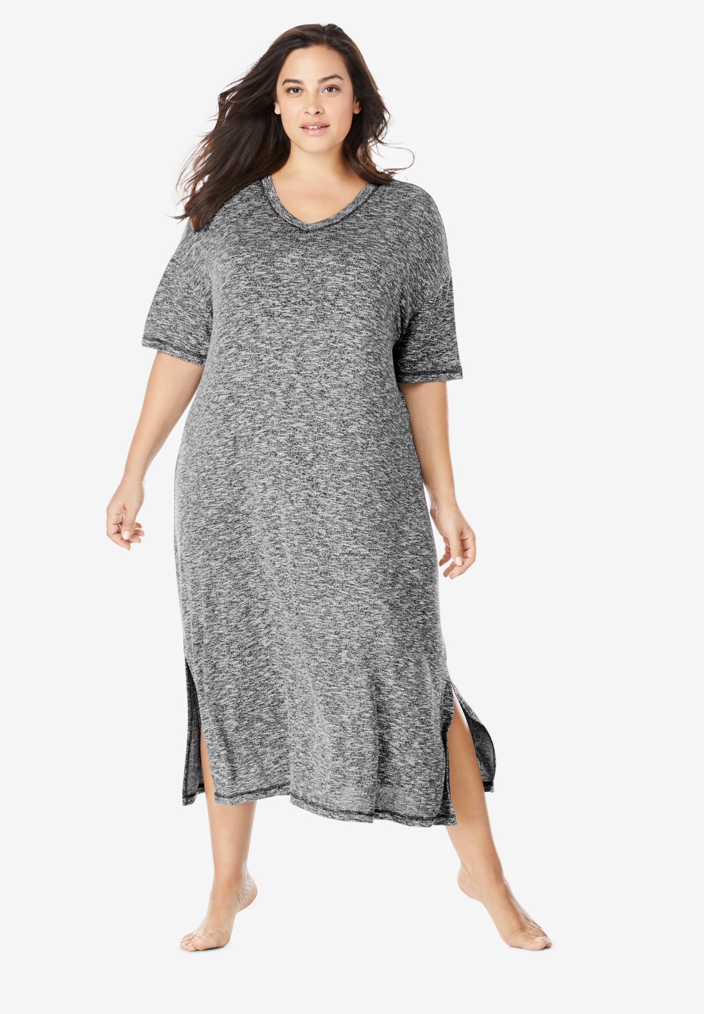 Long Marled Sleepshirt ,
