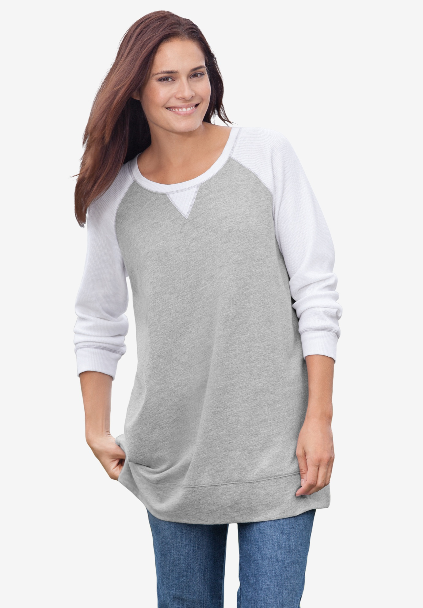Thermal & Terry Colorblock Tunic,