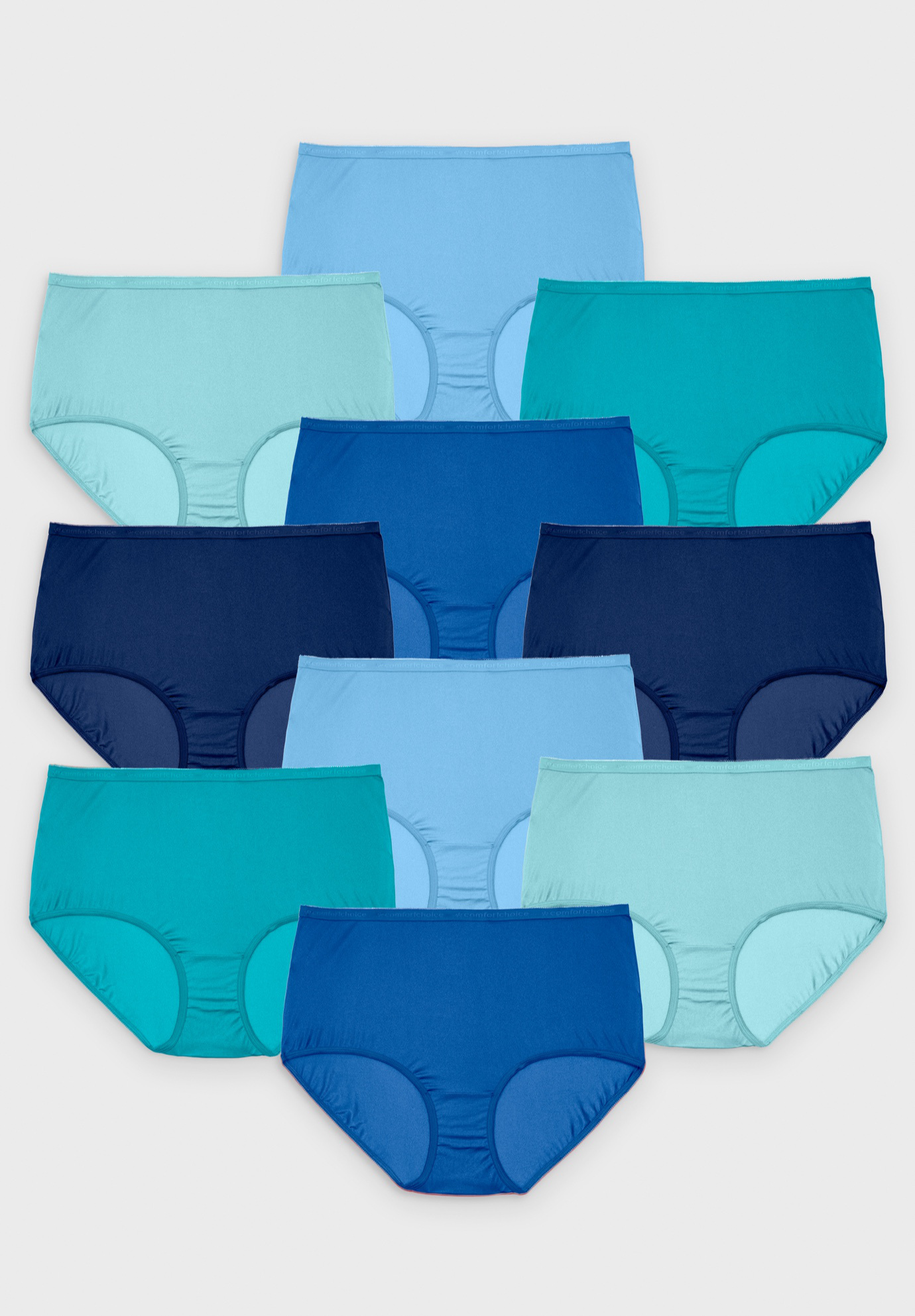 10-Pack Nylon Full-Cut Brief ,