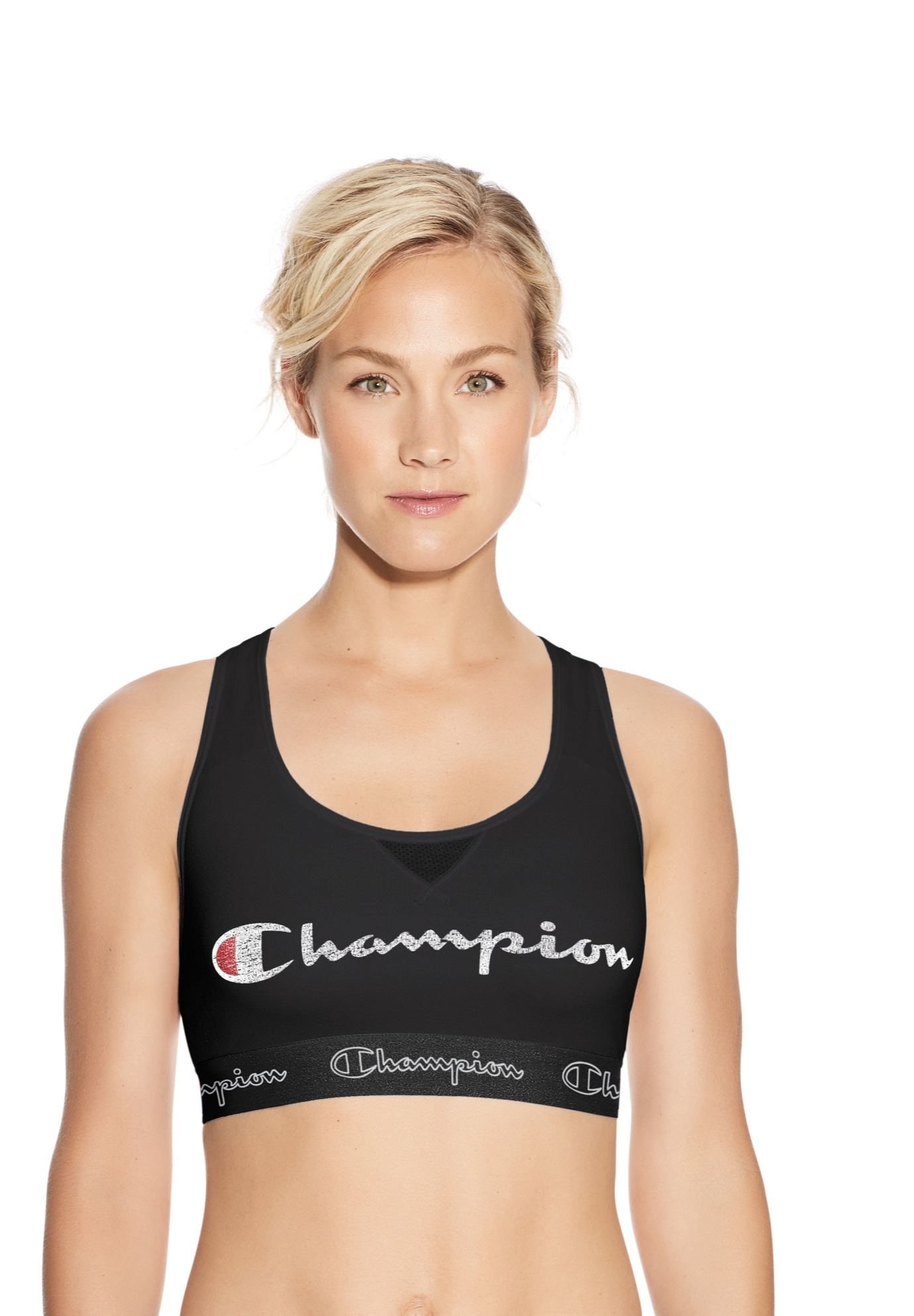 The Authentic Sports Bra, Script Logo ,