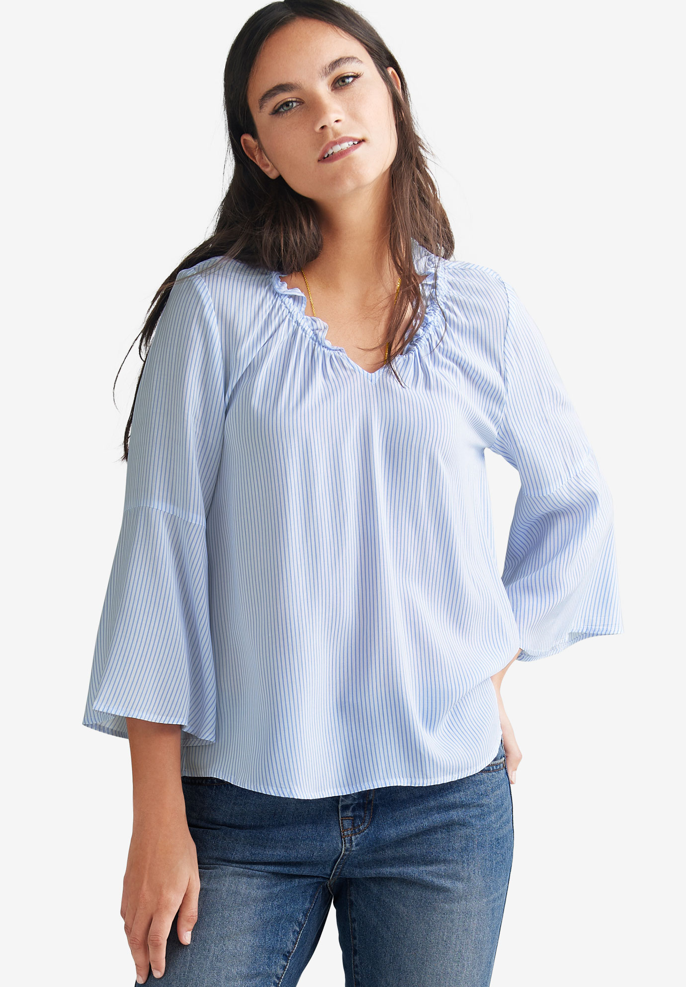 Bell Sleeve Blouse,