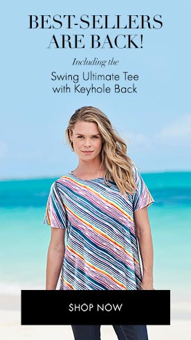 Best-Sellers are Back! Including the Swing Ultimate Tee with Keyhole Back